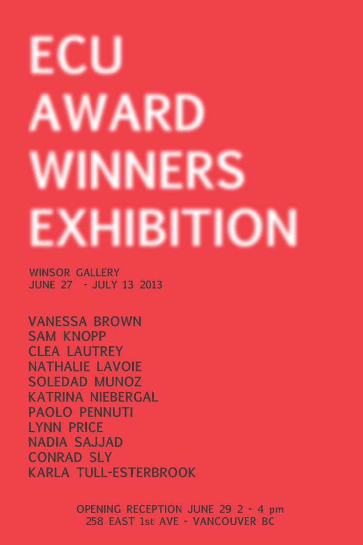 ECU Award Winners Exhibition Winsor 2013